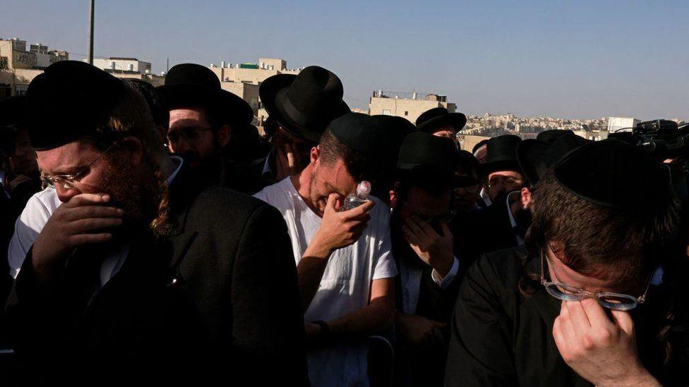 Mourners in Jerusalem, 30 April