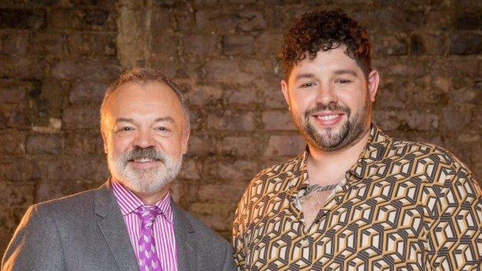 Graham Norton and James Newman