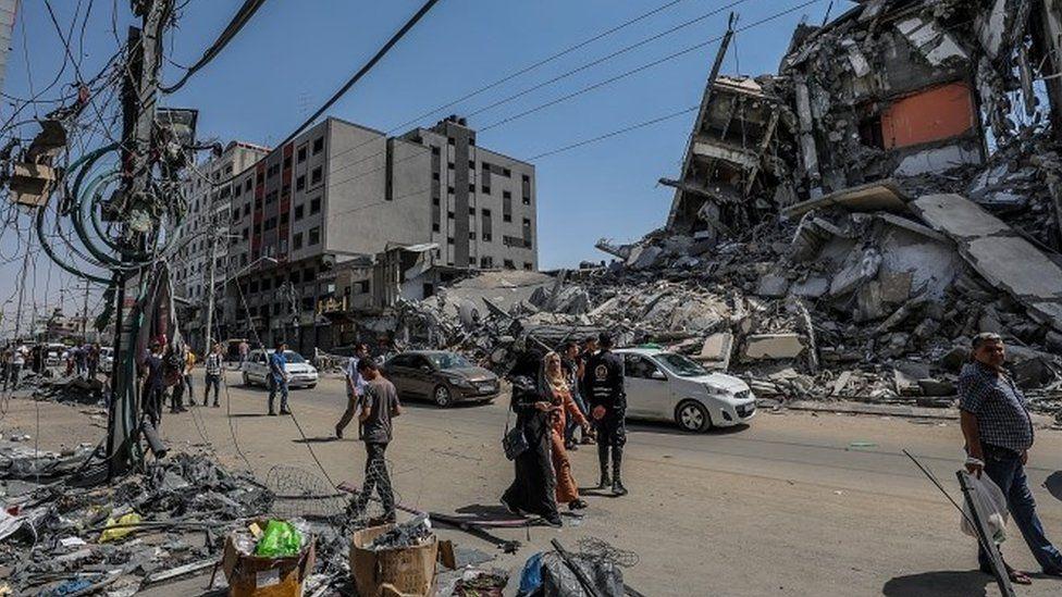 Destruction in Beit Hanoun, Gaza Strip