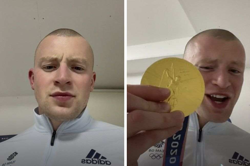Adam Peaty's gold medal celebration went viral on TikTok