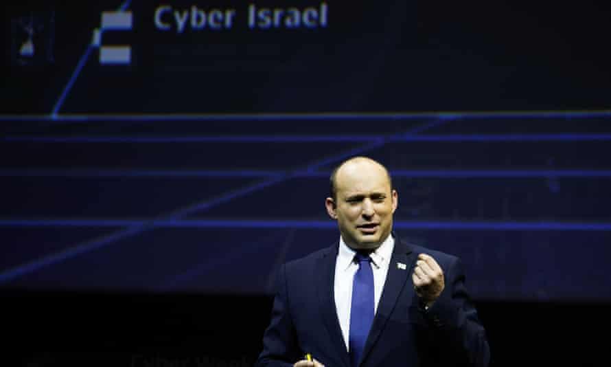 Naftali Bennett speaking at the Cyber Week conference at Tel Aviv University on Wednesday.