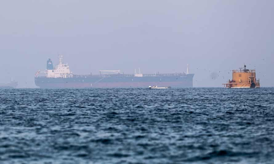 The incident follows an attack on the Mercer Street tanker, pictured, off the coast of Oman last week.