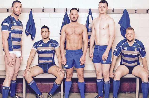 Pictured: Players from theKings Cross Steelers post for Book and Calendar pictures. The club was founded in 1995 as the first gay Rugby club