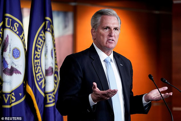 House Minority Leader Kevin McCarthy and fellow Republican David Kustoff introduced a bill to prevent anti-Semitic hate crimes on Tuesday. McCarthy, the top Republican in the House,suggested that 'The Squad' and other Democrats helped spark anti-Semitic attacks against Jews in the United States after they publicly criticized Israel for its military actions in Gaza
