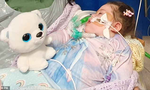Alta Fixsler (pictured) suffered a severe brain injury at birth and her doctors say she cannot breathe, eat or drink without sophisticated medical treatment
