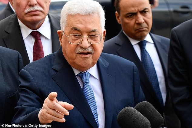 Palestinian National Authority President Mahmoud Abbas [file photo, 2018] reportedly sent a district governor of Ramallah, Laila Ghannam, to personally deliver cash this week to the family of Muhannad Al-Halabi