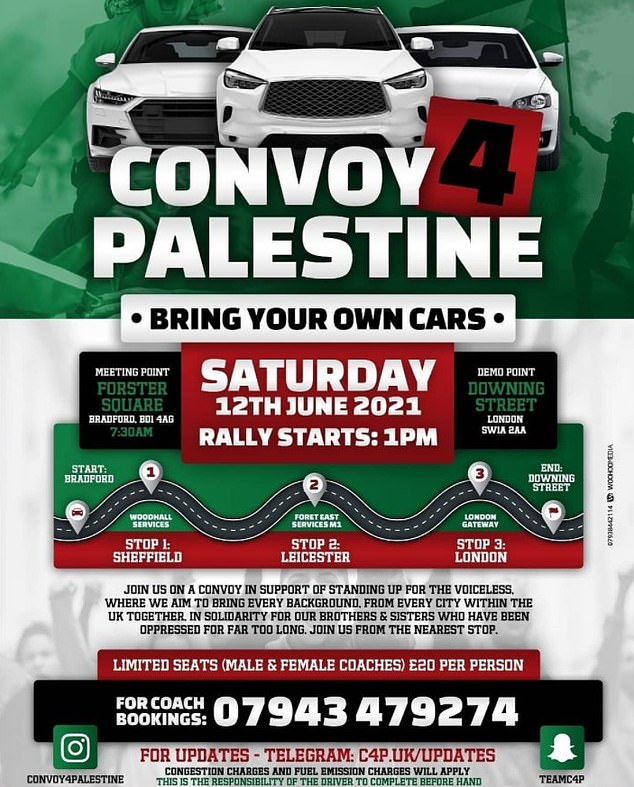 'Convoy For Palestine' activists are planning a trip to London on Saturday in male and female segregated buses