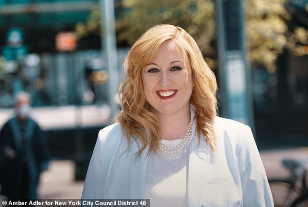 Amber Adler, 37, is the first Orthodox Jewish woman to run for a New York City Council seat from her Brooklyn district