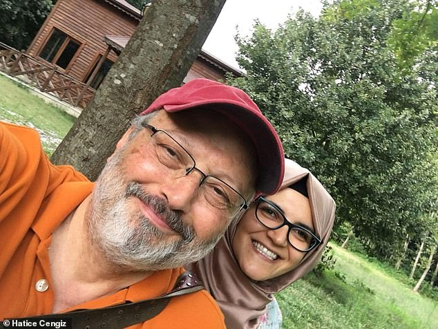 Jamal Khashoggi (pictured with fiancee Hatice Cengiz) is one of hundreds, and possibly thousands, of public figures who appear to have been successfully targeted via a shadowy piece of phone-hacking software named Pegasus