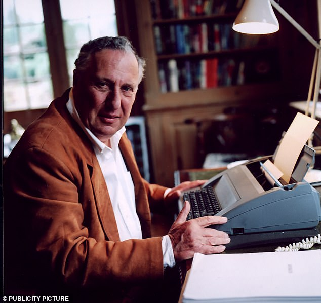 The Day of the Jackal was bashed out in just 35 days on a knackered old typewriter by author Frederick Forsyth, 31 at the time, (pictured) sporting a bullet hole from days as a war reporter