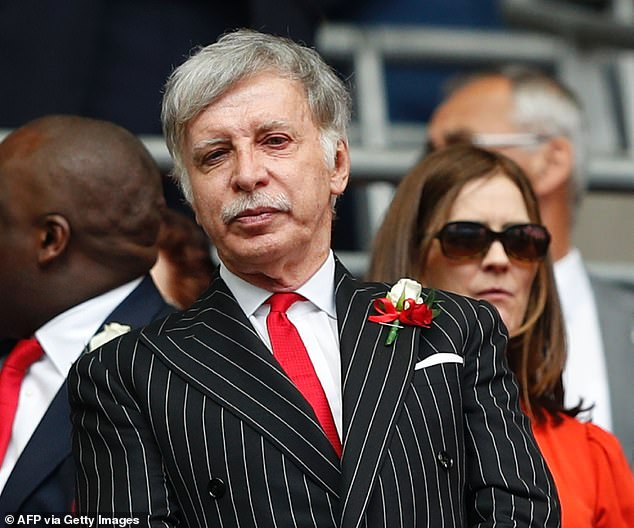 Not content with the fortunes they cream off from the global sale of TV rights and endorsement deals, for months the foreign owners of Manchester United, Manchester City, Liverpool, Chelsea and Arsenal, plus British-run Tottenham Hotspur, have been secretly plotting ways to make yet more money from our national game. Pictured: Arsenal owner Stan Kroenke